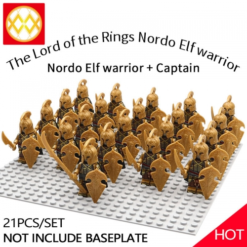 WM1254 21pcs/lot Game of Thrones Lord of the Rings The song of ice and fire Soldier brigade Building blocks for children's toys