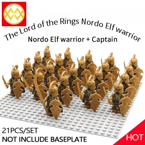 WM1256 21pcs/lot Game of Thrones Lord of the Rings The song of ice and fire Soldier brigade Building blocks for children's toys