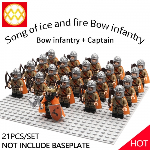 WM1249 21pcs/lot Game of Thrones Lord of the Rings The song of ice and fire Soldier brigade Building blocks for children's toys