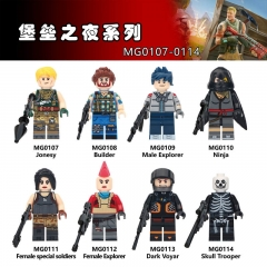 MG9003 Single Cartoon characters Game Fortnite Superhero Building block toys Children