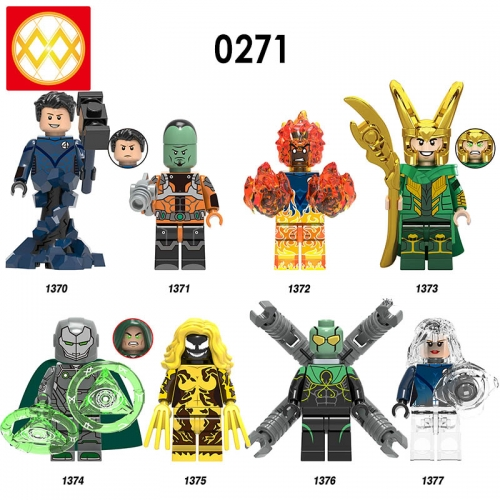 Hot Sale X0271 Super Heroes Mister Fantastic Leader Human Torch Loki Action Figures Building Blocks Bricks Children Toys