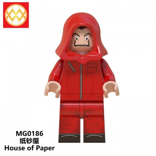 MG0186 Single Cartoon characters Celebrity Paper sand house Building block toys WM6061