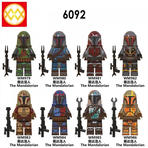 HOT SALE! WM6092 New The Mandalorian Set Master star Rise of skywalker wars Figures Building Blocks Toys Action Game Gifts Toys