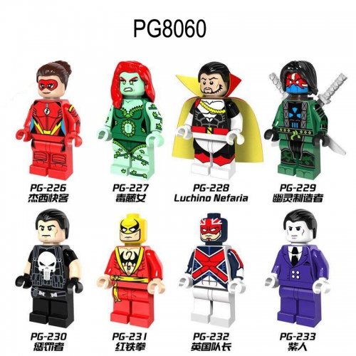 PG8060 Super Heroes  Jesse Chambers Poison Ivy Ghost Maker Punisher Captain Britain Purple Man  Luchino Nefaria Building Blocks Figures Toys For Kids