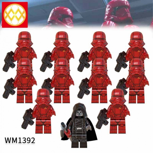 WM1392 SET Star Wars Sith Flying Corps The Knights of the Lun Action Figure Building Blocks Kids For Children