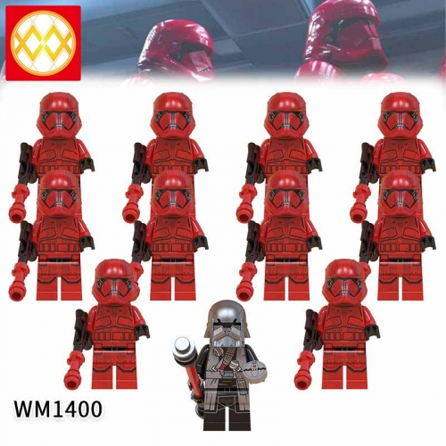 WM1400 SET Star Wars Sith Trooper The Knights of the Lun Action Figure Building Blocks Kids For Children