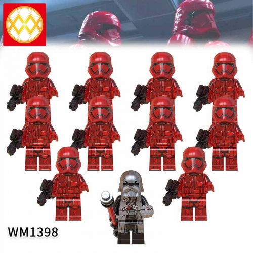 WM1398 SET Star Wars Sith Trooper  The Knights of the Lun Action Figure Building Blocks Kids For Children