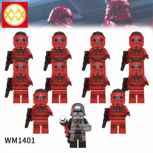 WM1401 SET Star Wars Jet Trooper Knights of the Lun Action Figure Building Blocks Kids For Children