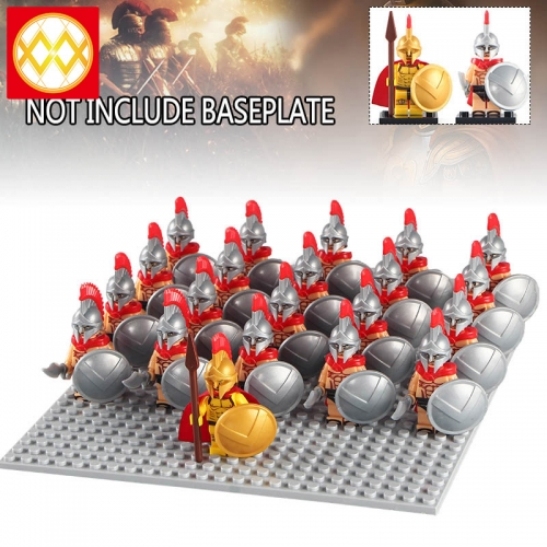 HOT SALE 21PCS/SET Building Blocks Rome Medieval Knights Commander Centurion Spartacus Crusader Heavy Infantry Arvoesine Gift