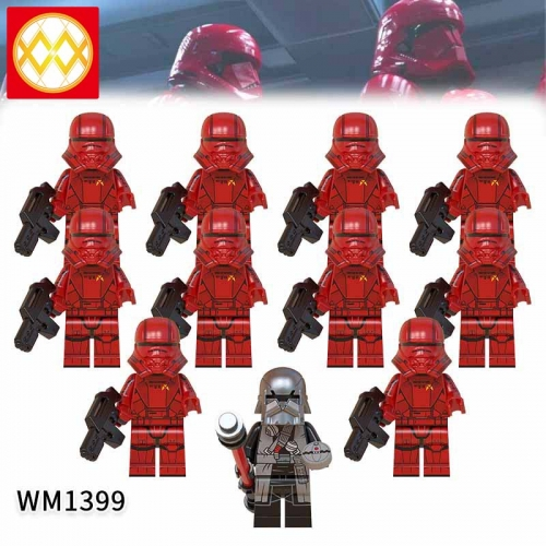 WM1399 SET Star Wars Death Sith Jet Trooper The Knights of the Lun Action Figure Building Blocks Kids For Children