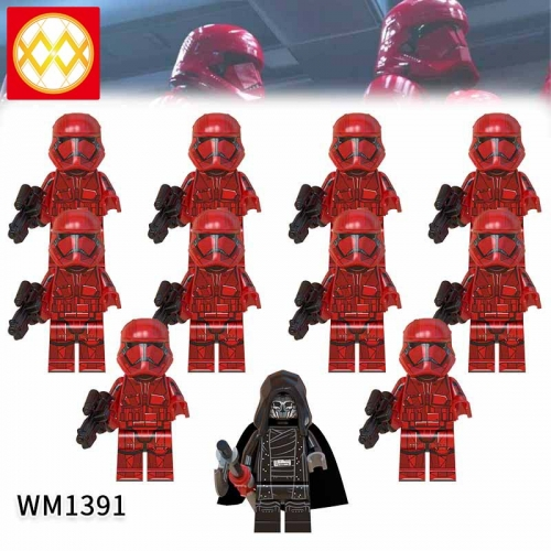 WM1391 SET Star Wars Sith soldier The Knights of the Lun Action Figure Building Blocks Kids For Children