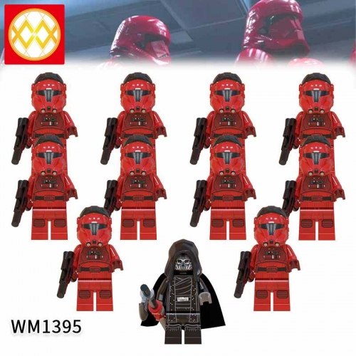 WM1395  SET Star Wars Flying Stormtrooper The Knights of the Lun Action Figure Building Blocks Kids For Children