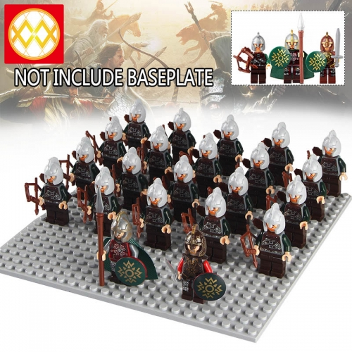 21PCS/SET WM1012 HOT SALE Rome Medieval Knights Commander Centurion Spartacus Crusader Heavy Infantry Arvoesine Building Blocks Gift