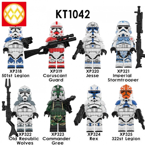 KT1042 Star wars 501st Legion Coruscant Guard Jesse Imperial Stormtrooper Rex 322st Legion Commander Gree Old Republic Wolves B