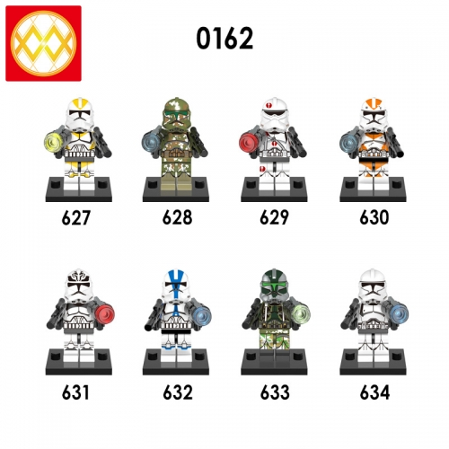 X0162 StarWars Utapau Trooper Commander Kashyyyk Neyo Appo Gree Wolf pack Building Blocks Toy