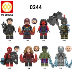 HOT SALE X0244 New Arrival Super Heroes Hawkeye Spider Man Building Block Bricks Figures Mini Toys for Children