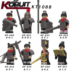 KT1088 total Qin Empire War Soldiers Action Figure Helmet Armor Accessories Building Blocks Brick Toys For Children