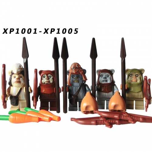 IN STOCK XP1001 1002 1003 1004 1005 Starwars figures EWOK Warrior Toka Gamorrean Guard Action figure  mini figure