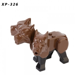 IN STOCK XP326 Harry mini The Road Way Hell Three - headed Dog Fluffy Figures Building Blocks Bricks Kids toy