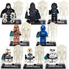 16pcs/set DLP9018 Hot Star Wars Palpatine Stormtrooper Clone Trooper Action Figure Head Toys Starwars MOC Building Blocks