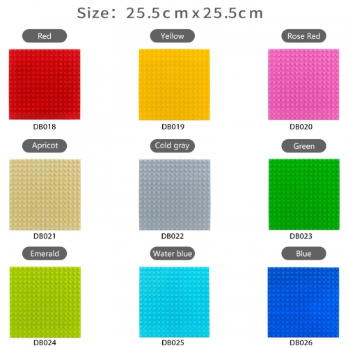 16*16 Dots 25.5*25.5cm Plastic Classic Base Plates High quality Bricks Compatible Figure DIY Building Blocks Kids Toys for children Gifts