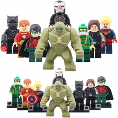 8pcs/set SY621 Super Hero Ironman Black Panther  Winter Solider Ms. Marvel  MOC Building Blocks Gifts Toys