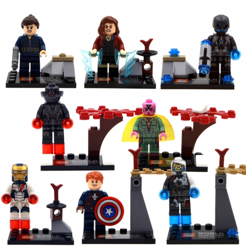 8pcs/set SY275 Super Heroes Avengers 2 Age Of Ultron Iron Man Black Widow Scarlet Witch Building Blocks Gifts Toys