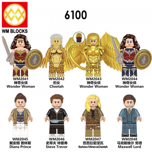 HOT SALE WM6100 New Movie Wonder Woman Series Steve Trevor Diana Cheetah Maxwell Lord Barbara Minerva Cheetah Action Figures Toys