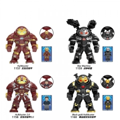 HOT SALE XH1158  XH1159 XH1160 XH1157 Super Hero Hulkbuster with Tony Black Gold Hulkbuster Building Blocks Figures Toys For Kids