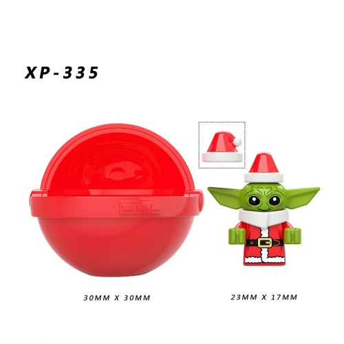 Hot Sale Merry Christmas Xmas XP335 Christmas Baby Yoda Starwars  Action Figure Building Blocks Kids