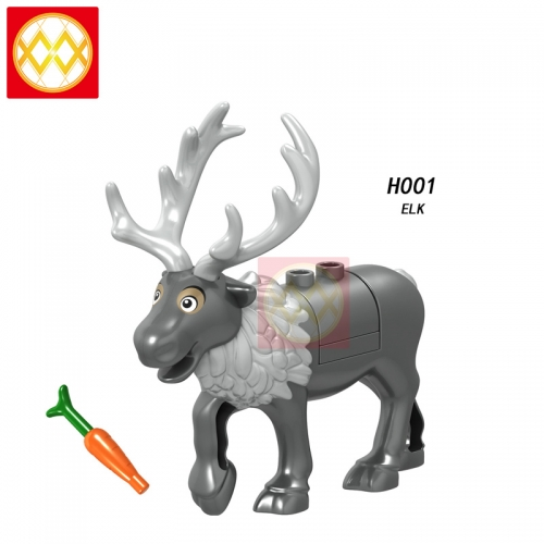 Hot sale Christmas Elk Deer Reindeer Ornaments Action Diy Animal Series Building Blocks Children Gifts Toys