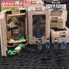 Hot Sale TBS82934 Army Group Marine Corps Thorn Leopard Army Sepcial Corps-fire Building Blocks Children Gifts Toys
