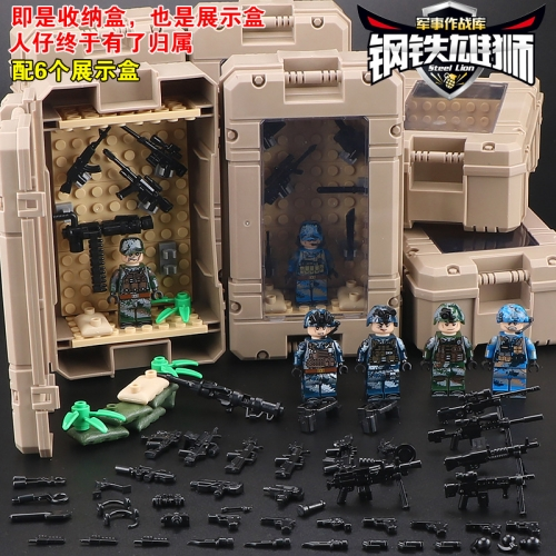 Hot Sale 6pcs/set TBS82934 Army Group Marine Corps Thorn Leopard Army Sepcial Corps-fire Building Blocks Children Gifts Toys