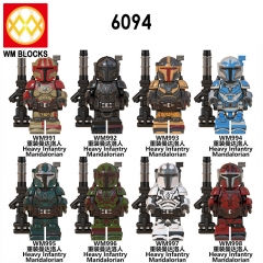 HOT SALE WM6094 New Star Heavy Infantry Mandalorian Paz Vizla Wars Baby Yoda Mini Action Figures Building Blocks Gift Toys For Children