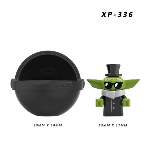Hot Sale XP336 Baby Yoda with Capsule Mandalorian Compatible Mini Action Figure Building Block Toys for Kids as Christmas Gift