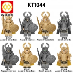 IN STOCK KT1044 Super Heroes Hela's Asgard Guaidians Guard Troops Army Mini Action Figures Soldier Military Building Block Toy
