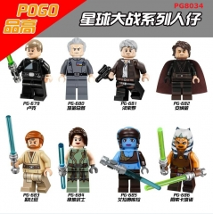 PG8034 Luke Skywalker Han Solo Anakin Aayla Secura Obi-Wan Building Block Figures Bricks Toys Children Gift PG8034
