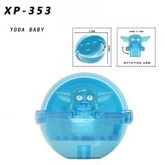 PRE-SALE XP353 Star Transparent Baby Yoda With Capsule Mandalorian Mini Action Figures Building Blocks Gift Toys for Children