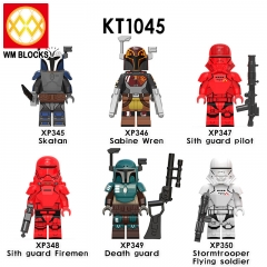 Pre-sale KT1045 Star Baby Yoda Trooper wars Figures Greef Carga Death Trooper Mandalorian Mini Wars Action Figures Building Blocks Toys