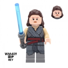 HOT SALE WM409 Rey Star Wars The Force Awakens Mini Action Figures Building Blocks Gift Toys for Children