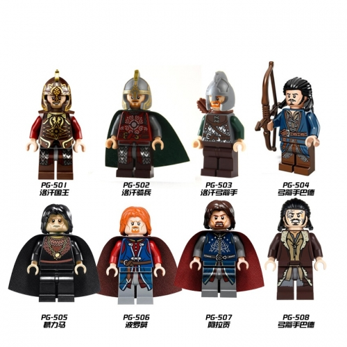 Hot Sale Lord Of The Rings Dwalin Bifur Bain Balin Thorin Figures Building Blocks Medieval Knight Movie Kids Toys PG8031