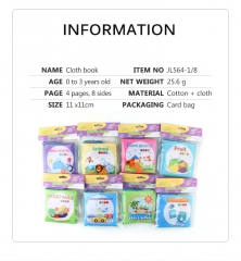 HOT SALE Animals Fruits Nature World Transportation Vegetables Series Soft Cloth Books Baby Early Development Children Toys Book For Kids