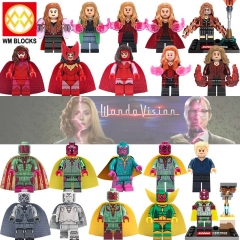 Hot Sale Super Heroes Wanda Vision Building Blocks Action Figures For Children Model Toys