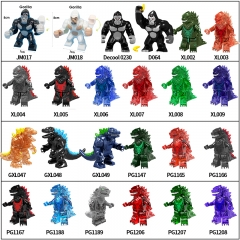 2021 New Movie Godzilla vs Kong Building Blocks Action Figures Model Toys