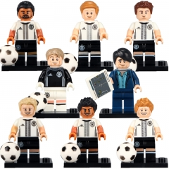 Famous Football Player Super Stars Goalkeeper Football Player Building Block Bricks DIY Model Gifts Toys KL9001