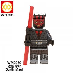 HOT SALE WM2030 PG645 PG649 Darth Maul Mini Star Action Figure Wars Building Blocks Children Toys