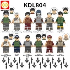 KDL804 Uchiha Shisui Ebisu Metkay Sai Hidan Rock Lee Anime Naruto Mini Building Blocks figures Toys For Children