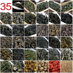 35 Different Flavors Chinese Tea including Oolong Puer Black Green Herbal Flower Tea Health Care Food Gift 215g Chinese Cha premium quality tea
