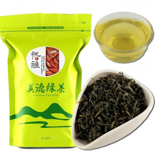 Fresh Yingde Green Tea Chinese Tea Organic Food Good For Health And Beauty Green Tea 250g Bag Packaging chinese beat green tea organic tea online