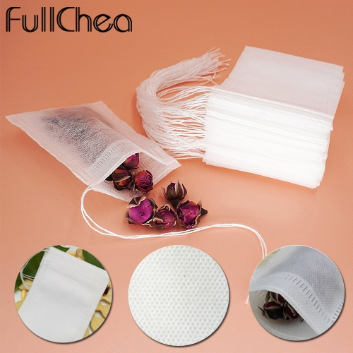 Tea Bags 100 Pcs/Lot Bags For Tea Bag Infuser With String Heal Seal 5.5 x 7CM Sachet Filter Paper Teabags Empty Tea Bags